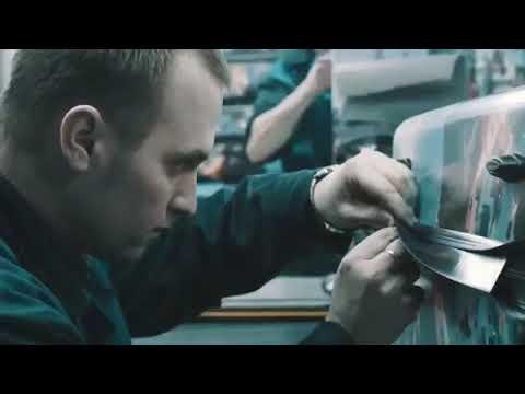 Видео с производства пластиковых чемоданов